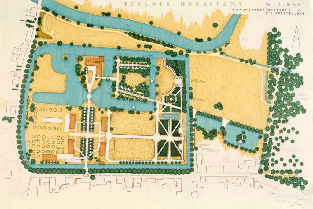 Historischer Lageplan - Schloss Hovestadt